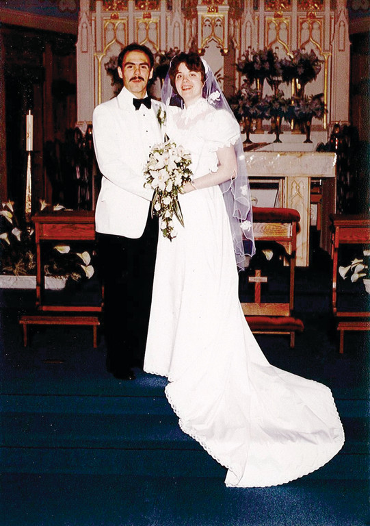 BLAST FROM THE PAST: To showcase the 1980s, Director Wayne Cabral and his wife, Christine, donated their wedding garments to the museum. His tuxedo, as well as his wife�s gown from 1983, will be available to view.
