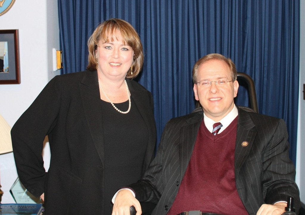 HOBNOBBING AT THE CAPITOL: Erin Flynn, of the New England Institute of Technology was shocked and thrilled when Congressman Jim Langevin invited to attend the President Obama's State of the Union address in Washington, D.C.