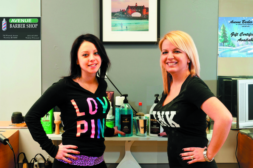 Meet Kristin and Keri, barbers/stylists at this shiny, clean and affordable barber shop on Warwick Avenue.