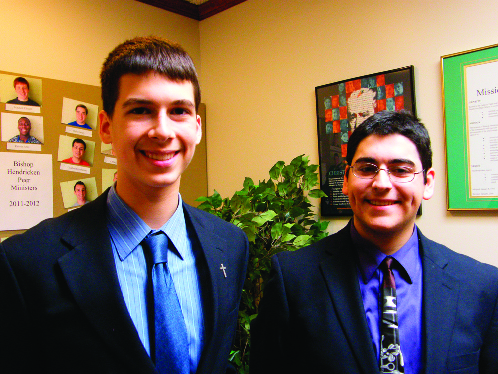 CARNEGIE CLARINETISTS: Hendricken sophomore Ryan Cox, left, and senior Aaron Colaiacomo will be heading to New York City in February to play at Carnegie Hall. The trip and concert are a part of the American High School Honors Performance Series.