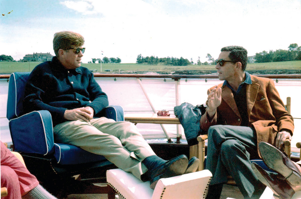John F. Kennedy and Pell shared many moments, including on the waters off Newport, in the early 1980s.