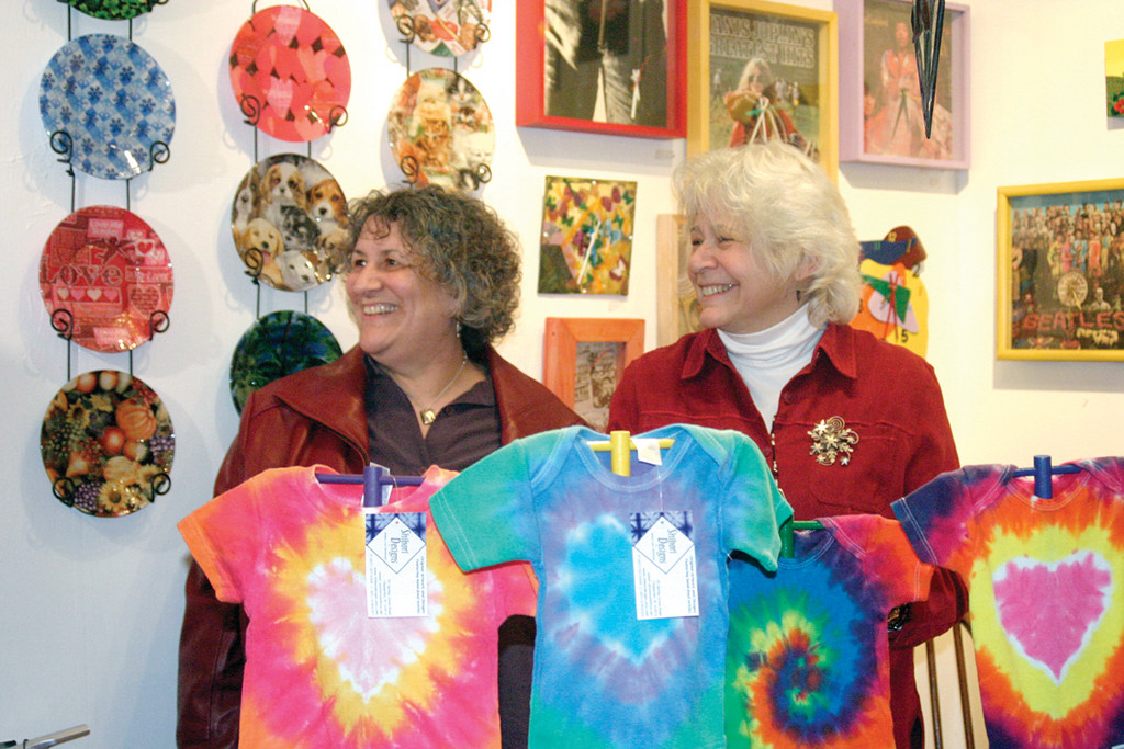 PLEASANTLY SURPRISED: Anything Goes co-owners Pam Goes (left) and Annie Johnson said they were thrilled more than 30 people showed up to their store as part of the adventure.