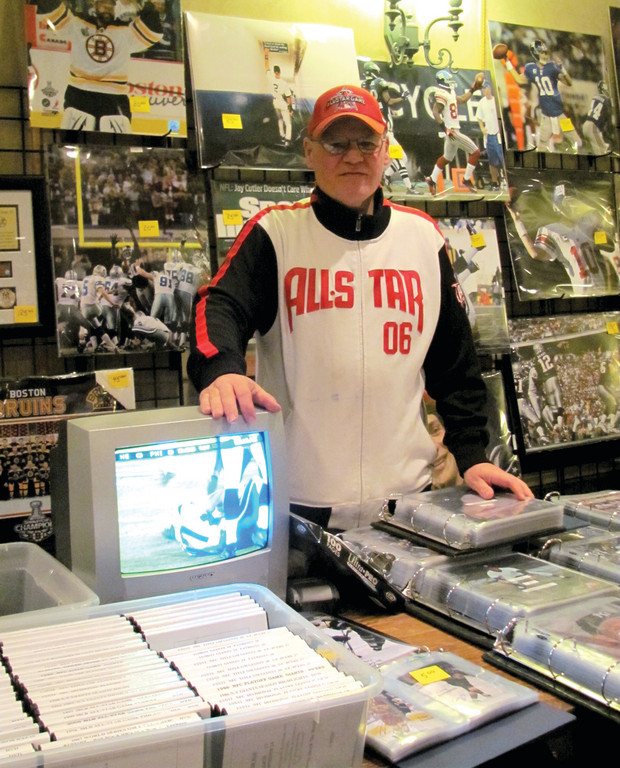 MEMORABILIA FOR SALE: Paul Mancini, a Cranston resident who is a practicing attorney, is an active sports cards and memorabilia dealer who helped make the 36th annual Cranston Sports Collectors Show a success.