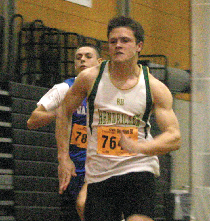 SET FOR STATES: Alex Perreault, pictured earlier this season, will be a key sprinter as Hendricken tries to win the state title again on Saturday.