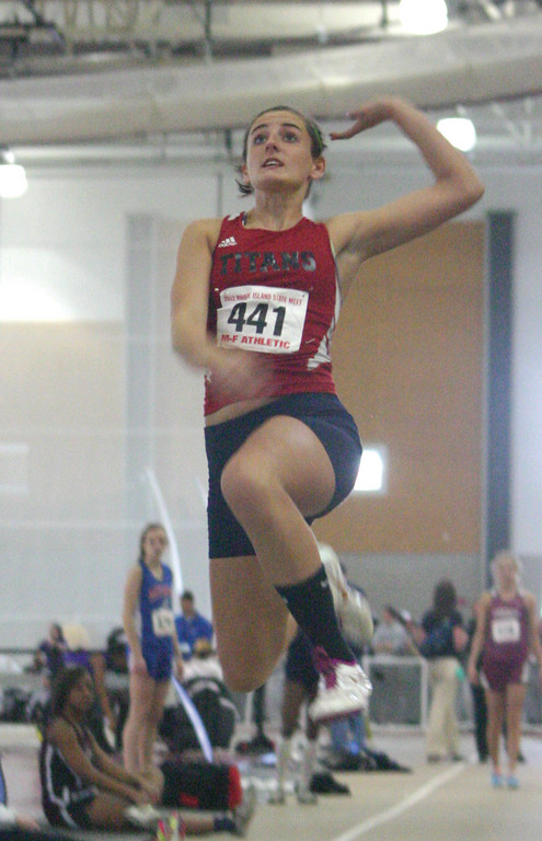 JUMP AND RUN: Toll Gate's Rylee Candon took sixth in the long jump and high jump.