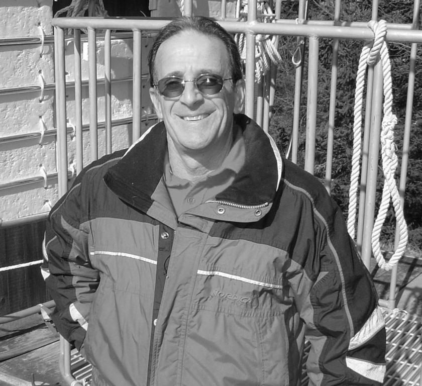 Captain Charlie Donilon of Snappa Charters, Point Judith, R.I., has been taking customers shark diving in a cage (one shown in photo) since 1976, longer than anyone else in Rhode Island.