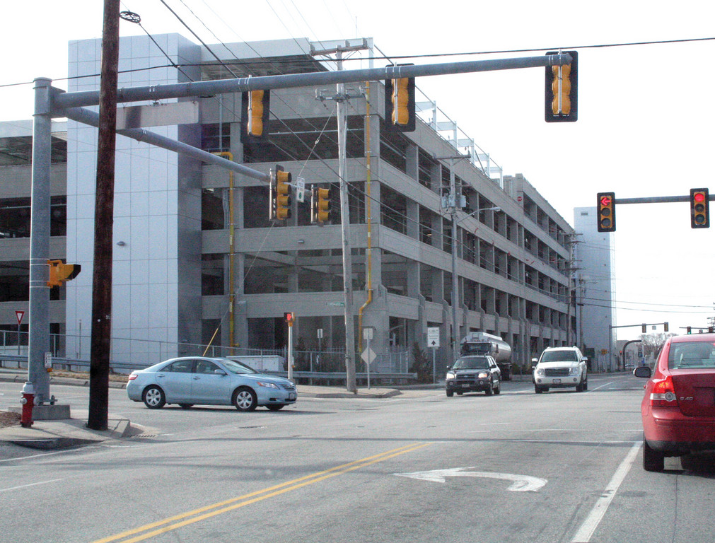 THE CHALLENGE: The car rental and commuter-parking garage on Jefferson Boulevard, which is part of the Interlink, is the canvas for public art being sought by the Rhode Island Council on the Arts.