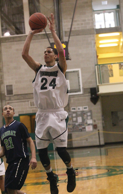 RISING UP: CCRI's Desmond Williams takes a jump shot.