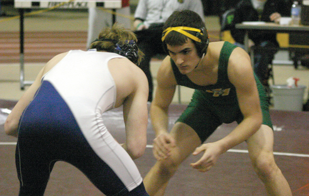 Hendricken's Anthony DiMauro gets ready to go.