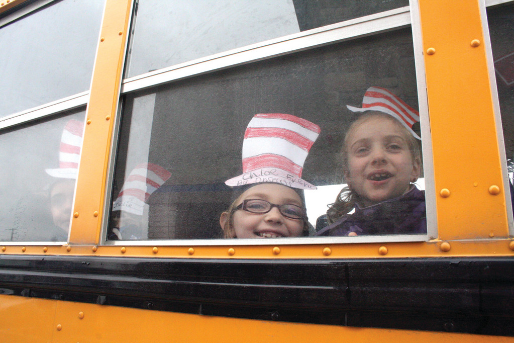 Chloe French and 36 other Hoxsie School first graders were treated to a breakfast of green eggs and ham and other delights in celebration of Dr. Seuss�s birthday at the IHOP on Airport Road.