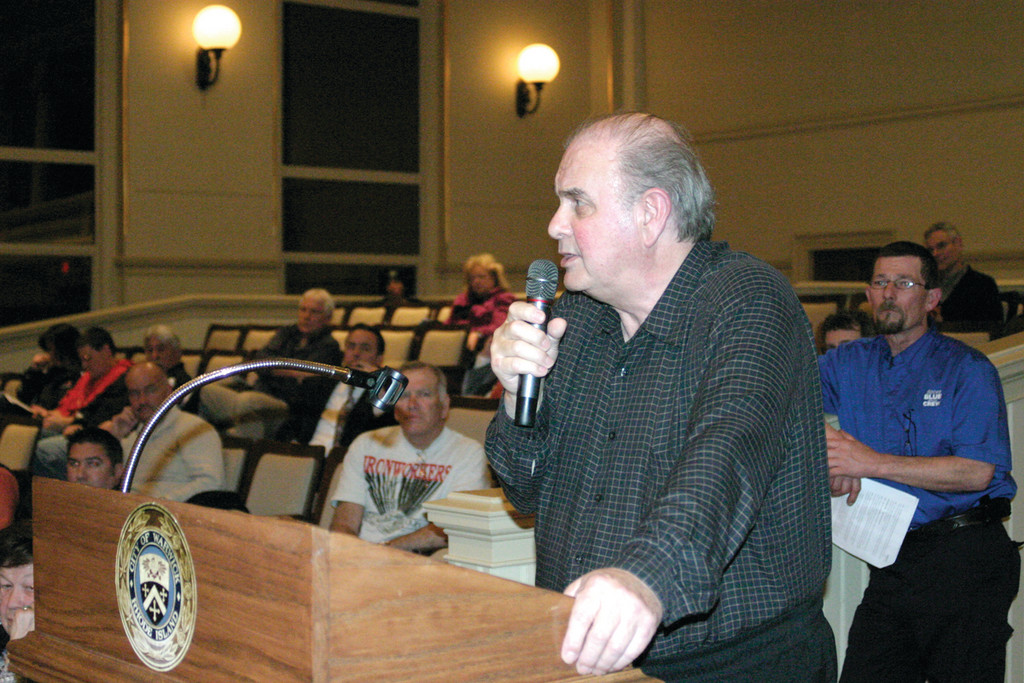 CONCERNED CITIZEN: Resident Philip D'Ercole said that while he is in favor of airport expansion, he is concerned about environmental factors.
