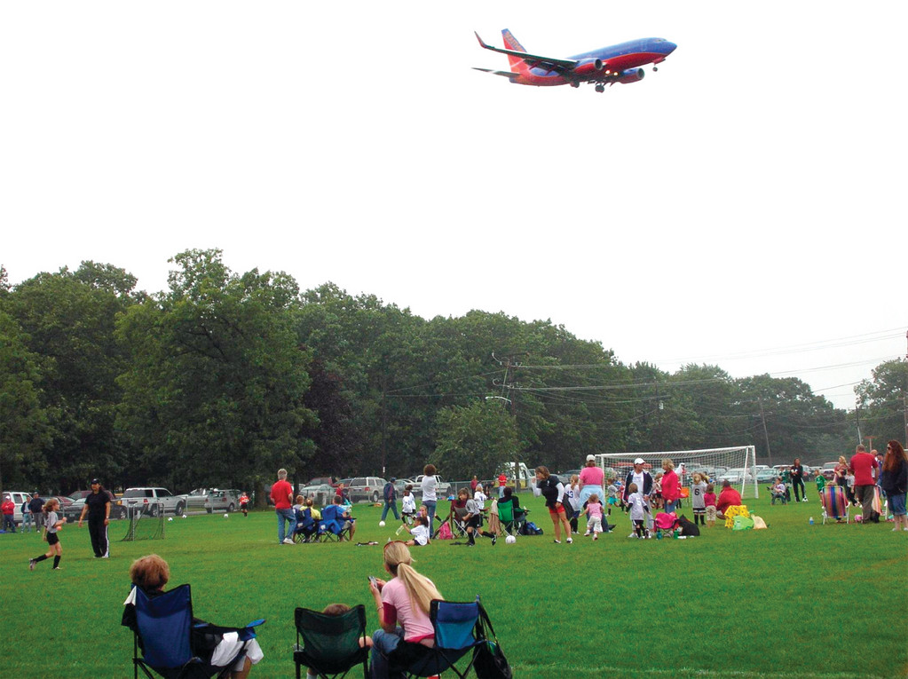 "IN ""PLANE"" SIGHT: The softball and soccer fields at Winslow Park will be relocated. This shot was provided by Councilman Steven Merolla."