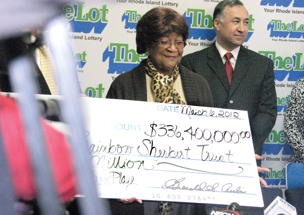 GEEZ, LOUISE: Louise White, 81, of Newport was announced Tuesday morning as the winner of last month's $336.4-million PowerBall prize. Officials said the jackpot was the third biggest in PowerBall's 20-year history and the largest ever won in Rhode Island.