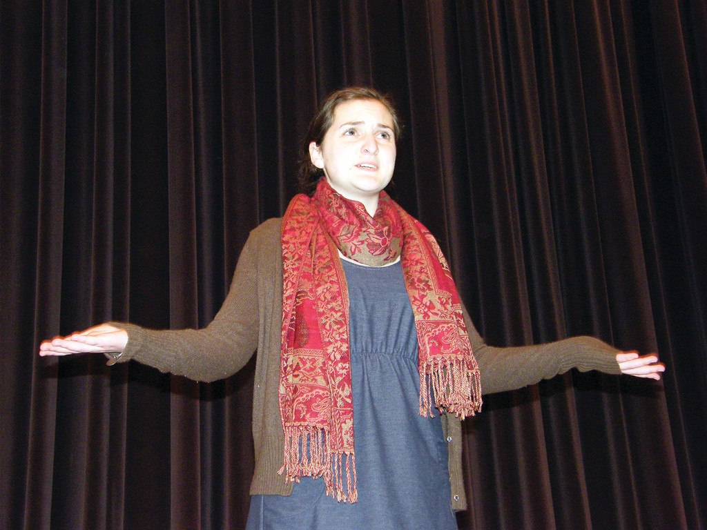 "IN THE SPOTLIGHT: Julia Paolino stars at The Baker's Wife in ""Into the Woods"" at Toll Gate High School this weekend."