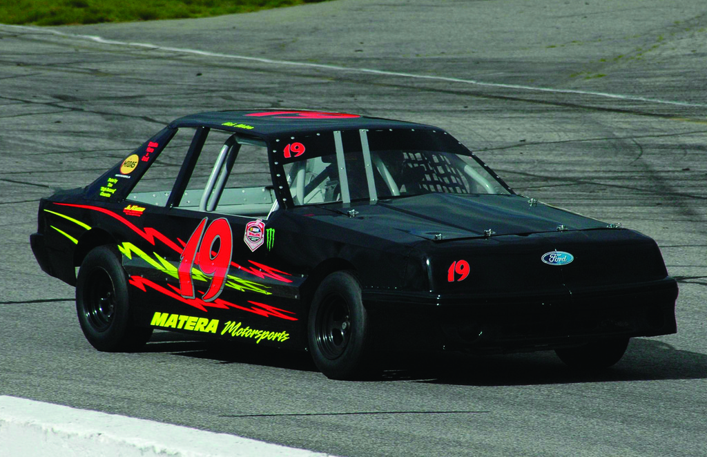CRUISING: Warwick's Nick Matera, whose car is pictured above, is the youngest driver at Thompson Speedway at just 16 years old, and he's hoping for another strong season this year.