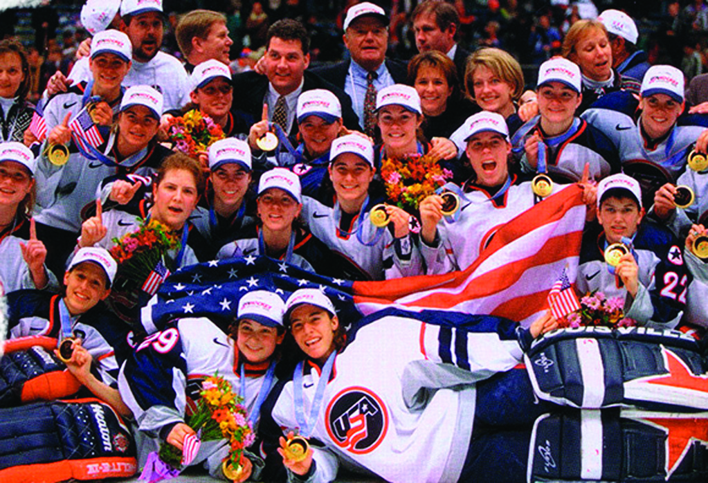 GOLD: Sara DeCosta Hayes and Vicki Movsessian Lamoriello were both part of the 1998 Olympic gold medal winning women's hockey team, and they're teaming up to host a girls' hockey camp this summer at Providence College.