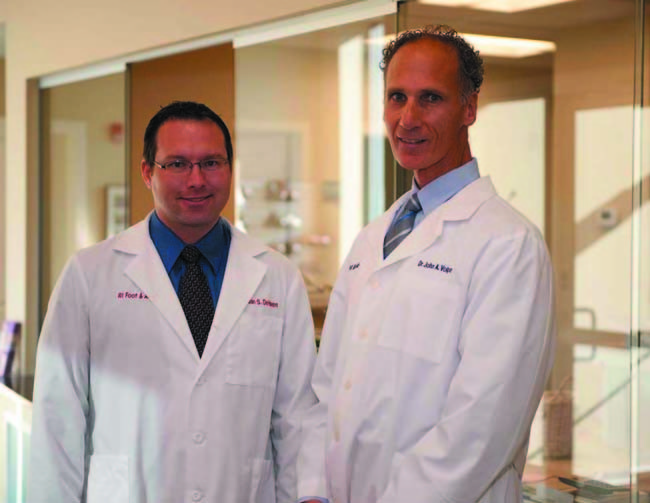 Visit Dr. John A. Volpe and Dr. Jordan S. DeHaven for the treatment of all your foot and ankle conditions.