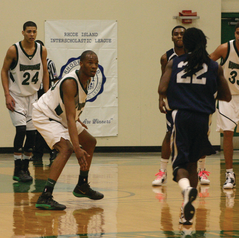ON THE BALL: CCRI's Trevor Mabry gets in a defensive position.