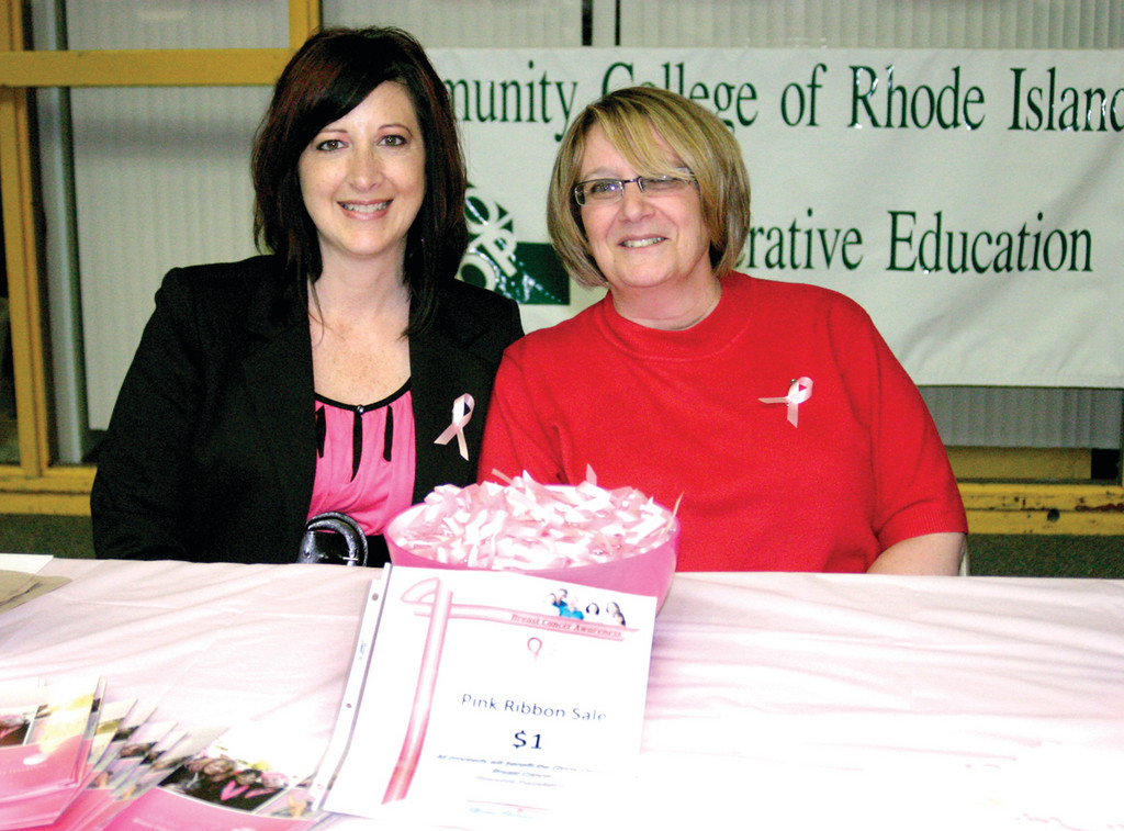 FOREVER FRIENDS: At left, Sharyn Vicente, an information service technician at CCRI, is also a cancer survivor. She was diagnosed in September 2008 and has a great deal of respect for the Foundation. She and her friend, Gail Kelley, also an information service technician at CCRI, serve as volunteers for the Foundation.