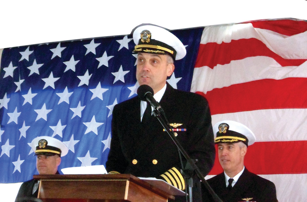Cranston native Captain Andy Loiselle, USN, was just appointed commander of the USS Gunston Hall (LSD) (Landing Ship, Dock) designed to transport men and supplies for amphibious assaults. More recently, the ship was dispatched to Haiti with supplies in the wake of the 2010 earthquake.
