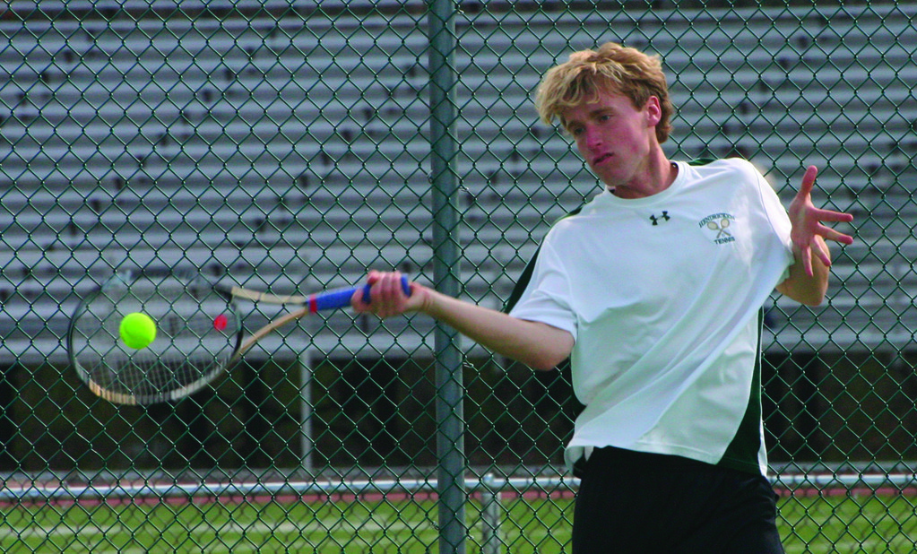RIPPING IT: Hendricken senior Nick Walsh is back for his second consecutive season as the Hawks' No. 1 singles player.
