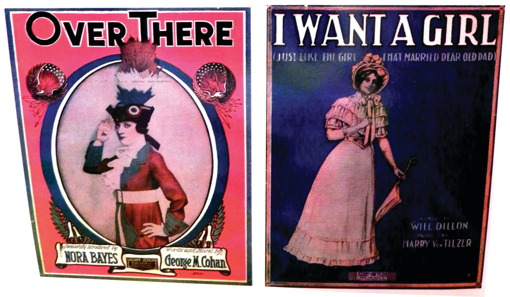 Sheet music from the early part of the 20th century often sported colorful and humorous art. Many of the songs display the relationship between vaudeville and the music business at that time and featured performers on their covers.