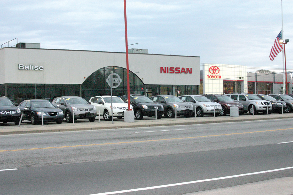 EXPANSION: The Nissan and Chevrolet dealerships on 1400 Post Road will be demolished and rebuilt to resemble the Toyota building.