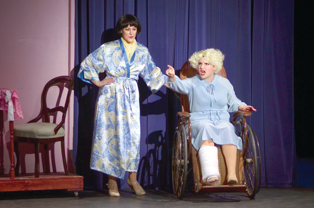 Shelia Senko as Peggy Sawyer (left) and Eve Marie Webster as Dorothy Brock.