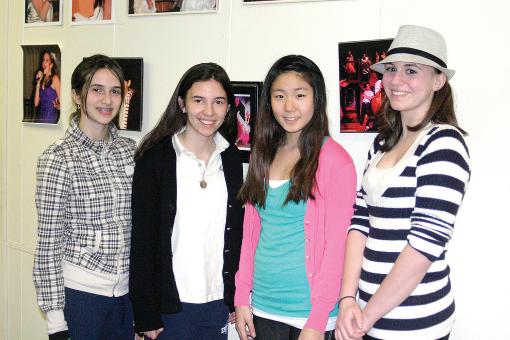 WARWICK GALS: Students from Warwick say they can't wait for opening night. They are, from left, freshman Julianna Fielding, 14; sophomore Hannah Shea, 16; freshman Sarah Kang, 14; and sophomore Michelle Tarain, 15.