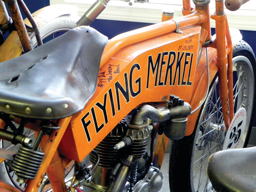 CANNONBALL RUNNER: This vintage 1911 Flying Merkel ran from Kitty Hawk in North Carolina to Santa Monica last September in a retracing of the route taken in the movie �Cannonball Run.� It would be churlish to mention it came in 42nd in a field of 45. How many 100-year-olds could have finished at all?