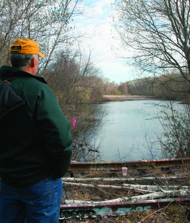PARKS PLAN FOR THE FUTURE: Ward 1 Councilman Steve Stycos looks out at the Bellefont Pond, one of the areas identified under the recently passed Parks Plan.
