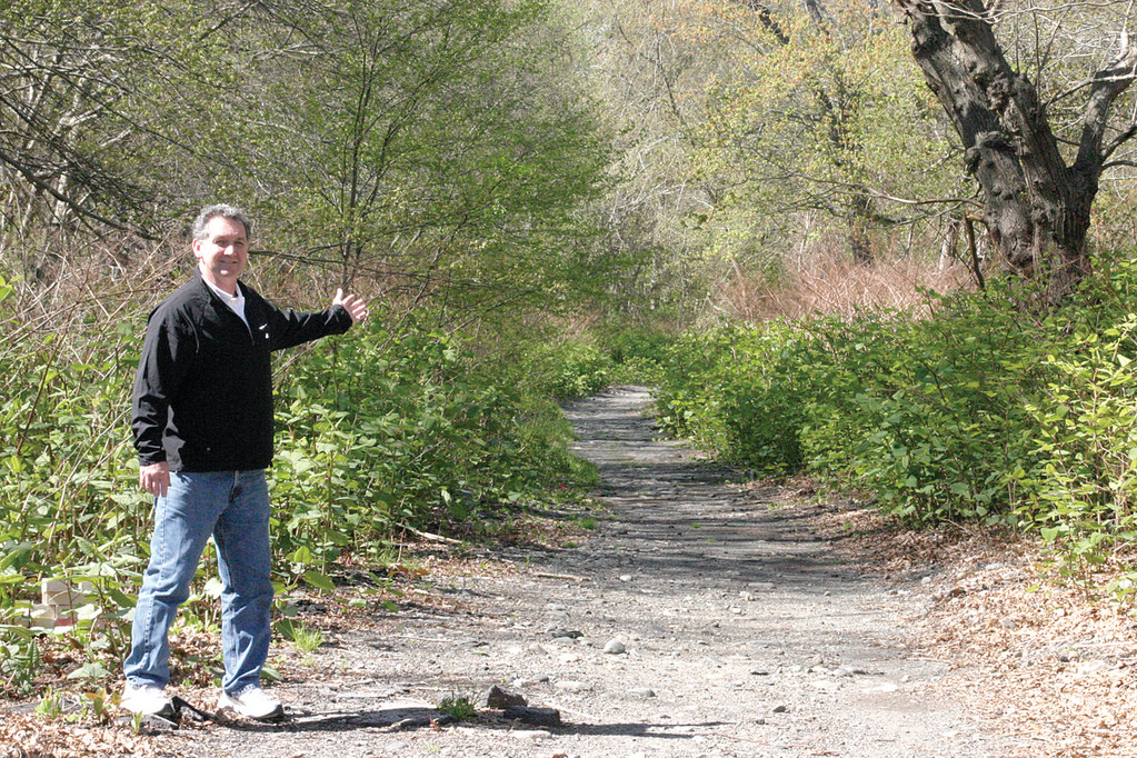 ON THE RIGHT PATH: After legislation he drafted to reopen Meadowview Avenue as a bike and pedestrian path was recently approved, Ward 5 Councilman John DelGiudice is pleased that work to set the project in motion will soon begin. According to DelGiudice, the quarter-mile road will reopen by the end of the summer or early autumn.