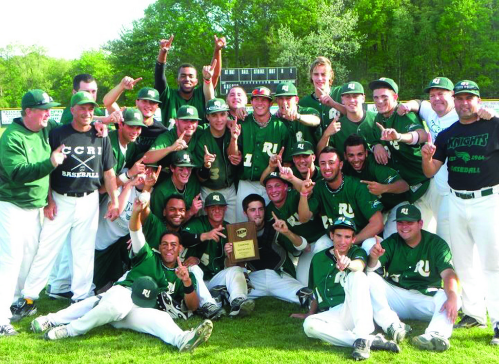 MAKING HISTORY: The CCRI baseball team beat Mercyhurst North East 8-5 on Sunday to punch its ticket to the NJCAA Division II World Series in Enid, Okla. It's the first World Series berth for the Knights since 1996. CCRI rallied from a 4-0 deficit to win the title game.