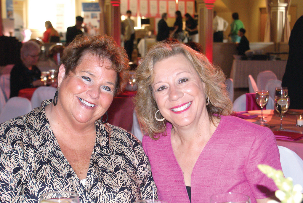 SURVIVORS: Enjoying the Our Heroes Fashion Show are Jo-ann Lion, five-year breast cancer survivor and Monique Boyajian, two-year breast cancer survivor. They were there to support the Foundation and other breast cancer survivors. Boyajian works at Spurwink/RI in Cranston.