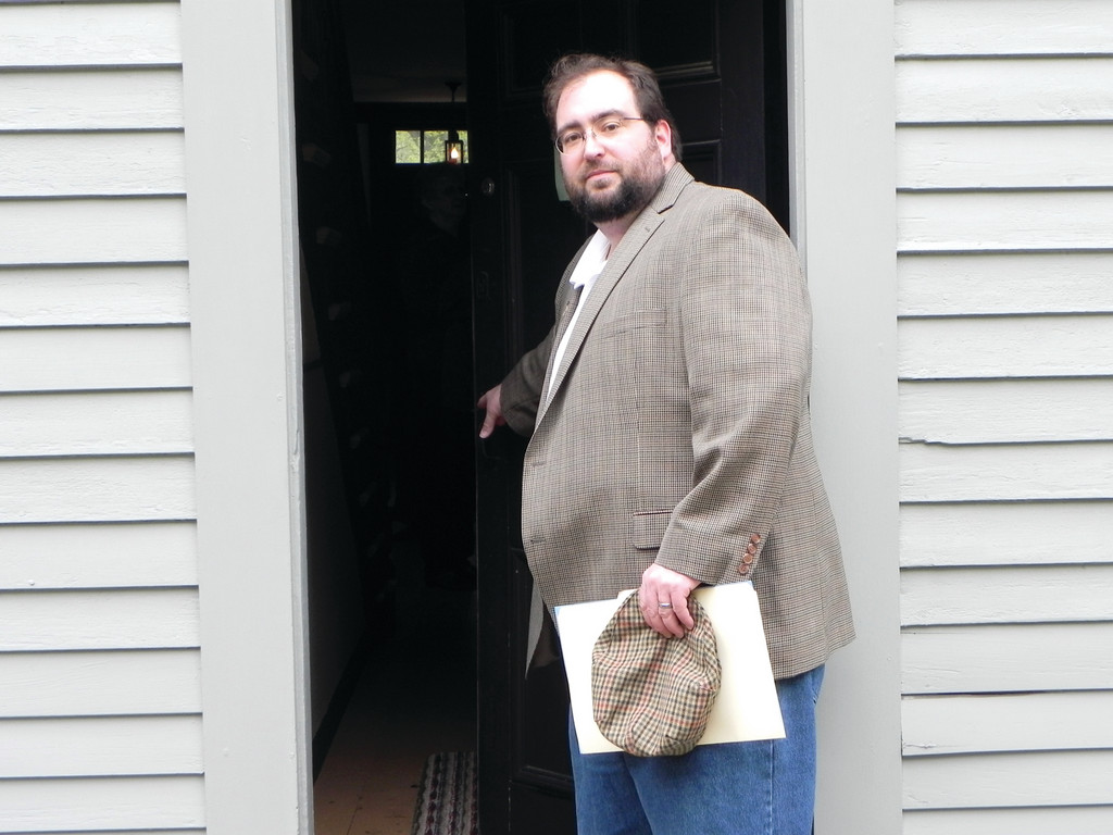 WELCOME: David Procaccini's first order of business as president of the Nathanael Greene Homestead Association is to increase the number of people who visit the Coventry landmark every year. He'd like to double the number and find new revenue sources to keep the site going.
