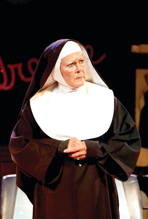 "BACK IN THE HABIT: Marilyn Farina, the original Mother Superior in ""Nunsense,"" will reprise her role at the Courthouse Center for the Arts this month."