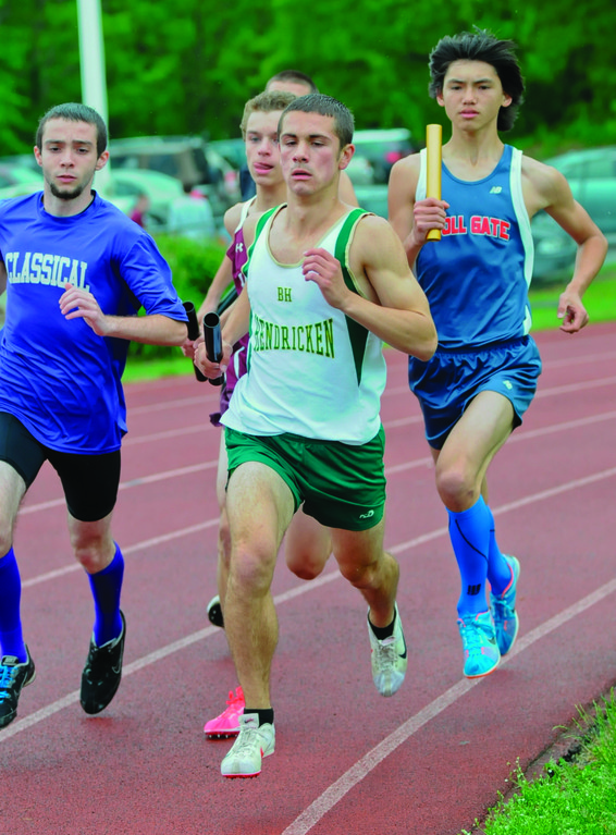 RUNNING: Mark Vuono, pictured at the division meet, helped lead Hendricken to the class championship on Saturday.