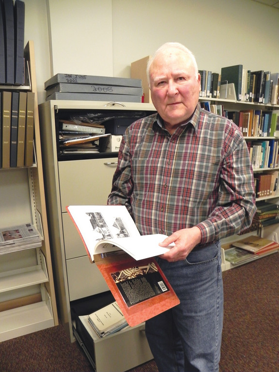 THE REST IS HISTORY: Richard V. Simpson, who grew up in Edgewood before he moved to the East Bay many years ago, has made a specialty of local history on the side of Narragansett Bay. Much of his collected research is housed in the Rogers Public Library in that town.