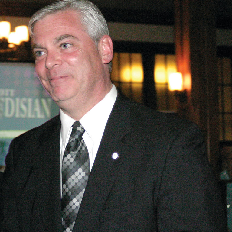 IN THE WORKS: At his fundraising event Thursday evening, Mayor Scott Avedisian announces he will again run for mayor.