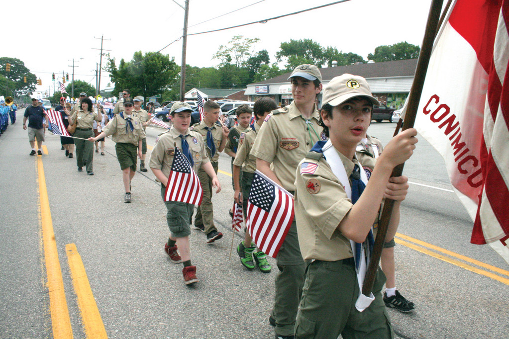 Scouts from Conimicut.