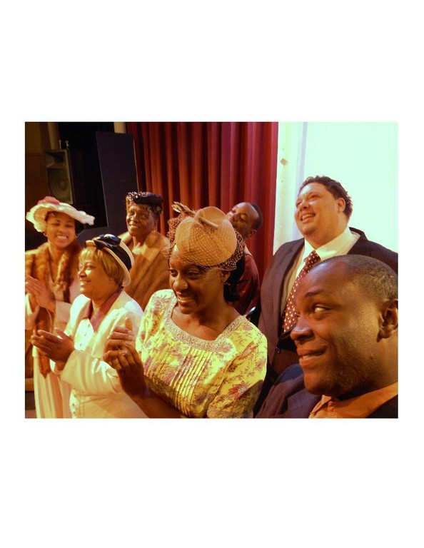 "The Cast of ""When Mahalia Sings"" (from left): Kim Pitts-Wiley, Barbara Bryant, Kim Trusty, Lydia Cooper, Jason Quinn and Amos Hamrick Jr."