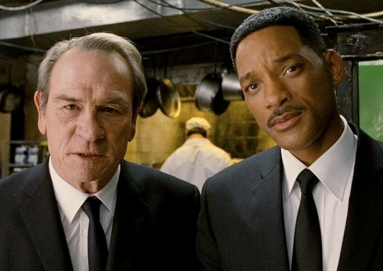 Tommy Lee Jones and Will Smith reunite as Agents K and J in Men in Black 3.