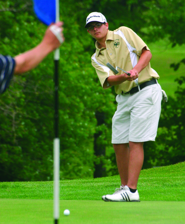 LOW MAN: Justin Matrone shot a 152 at states, where he finished as the Hawks' low scorer. Hendricken came in third.