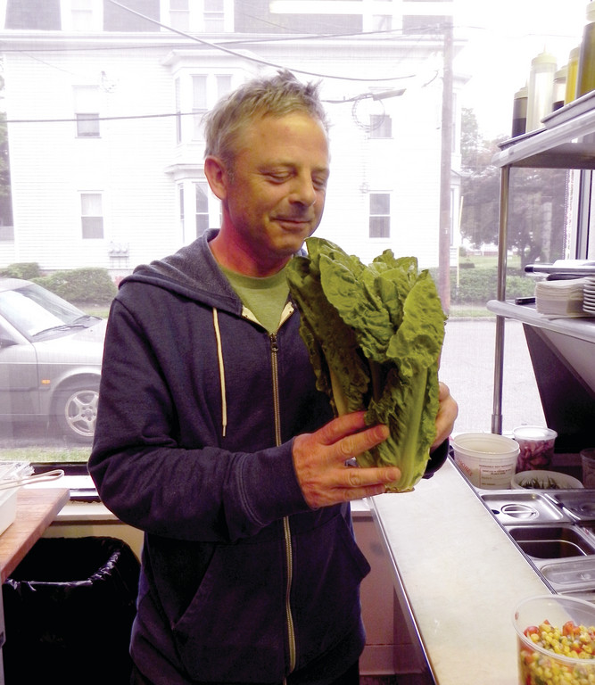Chef and owner John Walsh of the Edgewood Café at 1864 Broad St. in Cranston likes his vegetables fresh and local. His is one of many restaurants that find it is practical and flavorful to buy local farm products.