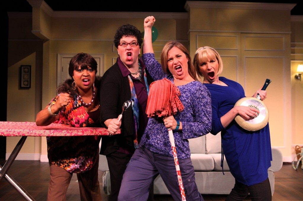 "Pictured from left to right are Jewel Lucien, Ingrid Cole, Kathryn Kaye and Lisa Manuli in ""Motherhood the Musial."""