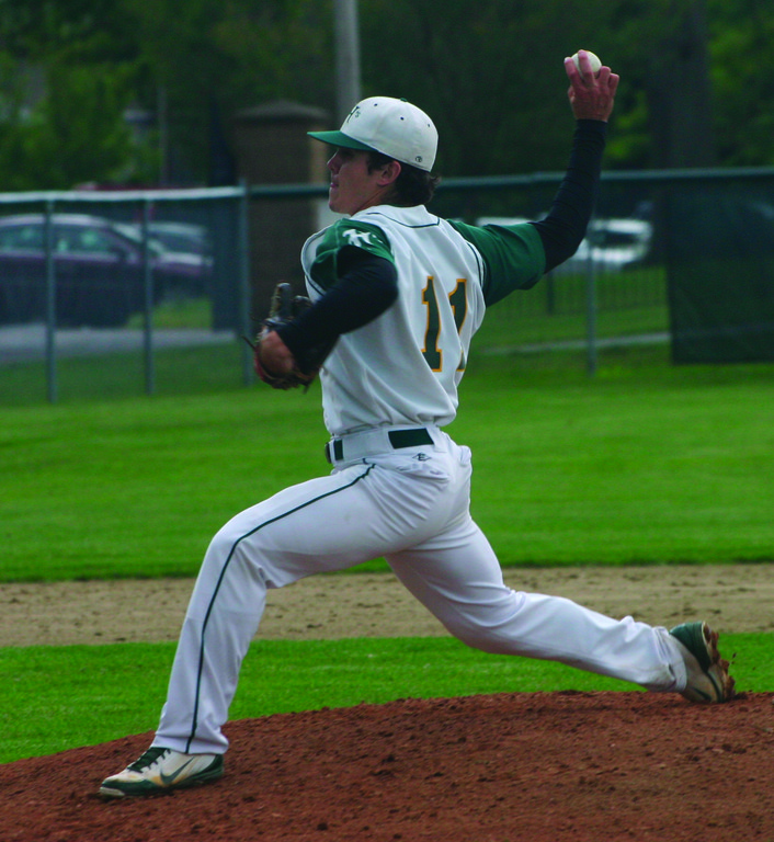 TWIRLING: Hendricken's Bobby Indeglia threw a complete game on Tuesday, sending the Hawks to the final four.