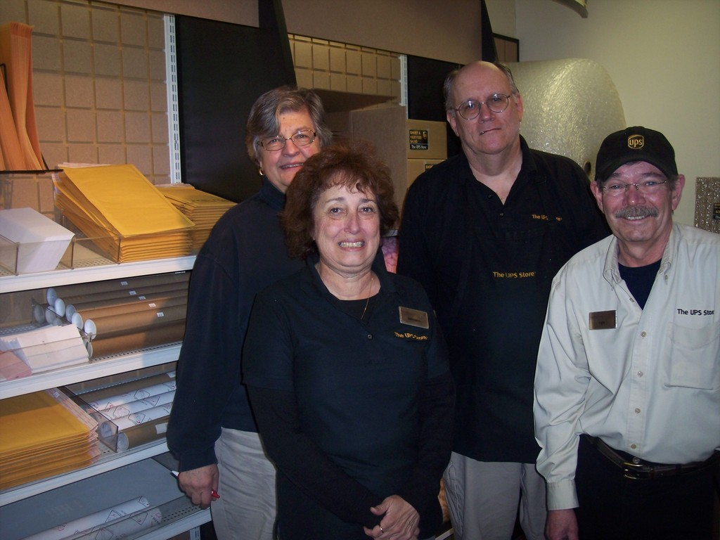 Meet (l-r) owner Eileen with her friendly staff Virginia, Greg and Ken at  your neighborhood UPS Store in Warwick.