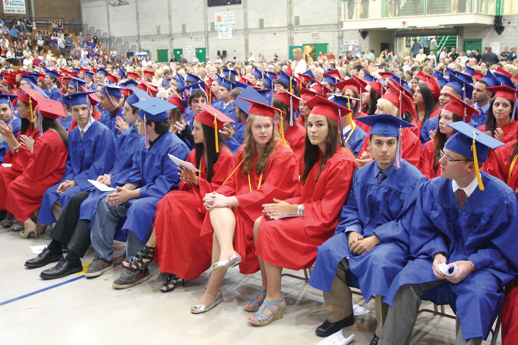 Toll Gate grads wait for the cermonies to begin.