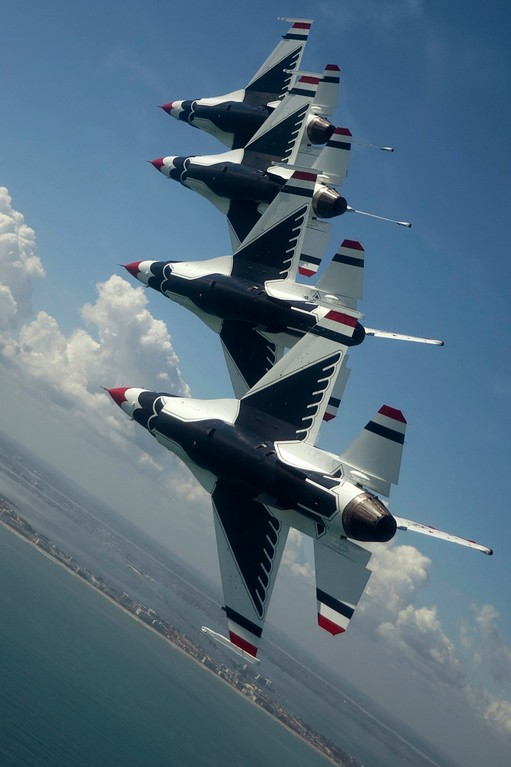 SHOW HEADLINERS: The USAF Thunderbirds will perform in this year's edition of the Rhode Island National Guard Air Show this Saturday and Sunday at Quonset.