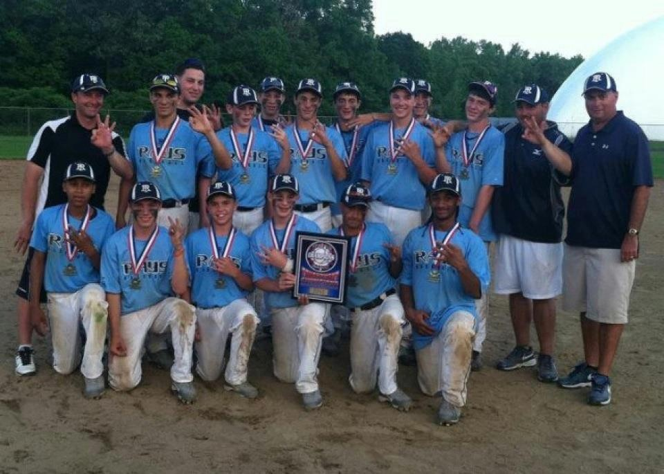 CHAMPS: The R.I. Rays pose together after winning the Memorial Day Tournament this year for the third consecutive season.